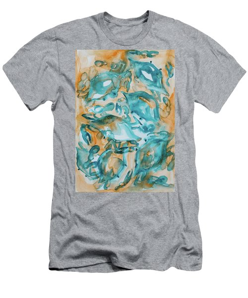 Blue Crabs Together Men's T-Shirt (Athletic Fit)