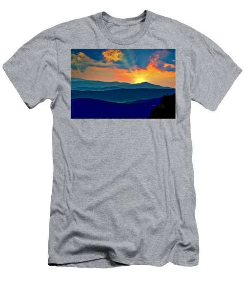 Blue Ridge Mountains Sunset Men's T-Shirt (Athletic Fit)