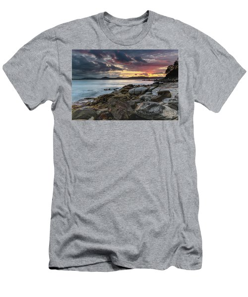 Colours Of A Stormy Sunrise Seascape Men's T-Shirt (Athletic Fit)