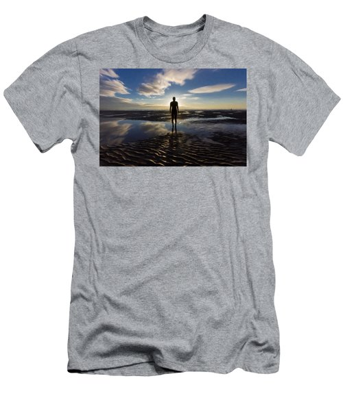 Iron Man At Crosby Beach Men's T-Shirt (Athletic Fit)