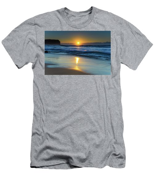 Sunrise Lights Up The Sea Men's T-Shirt (Athletic Fit)
