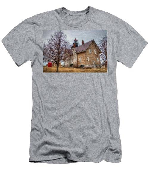 30 Mile Lighthouse  Men's T-Shirt (Athletic Fit)