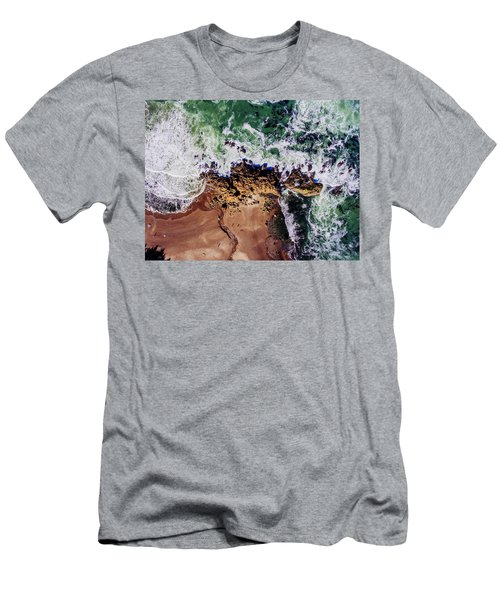 Aerial View Of The Beach, Newport Men's T-Shirt (Athletic Fit)