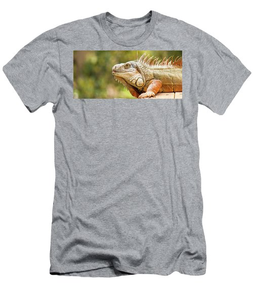 Men's T-Shirt (Athletic Fit) featuring the photograph Green Iguana by Rob D Imagery