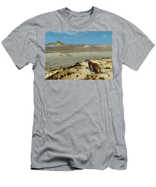 Tiger On The Watch Men's T-Shirt (Athletic Fit)