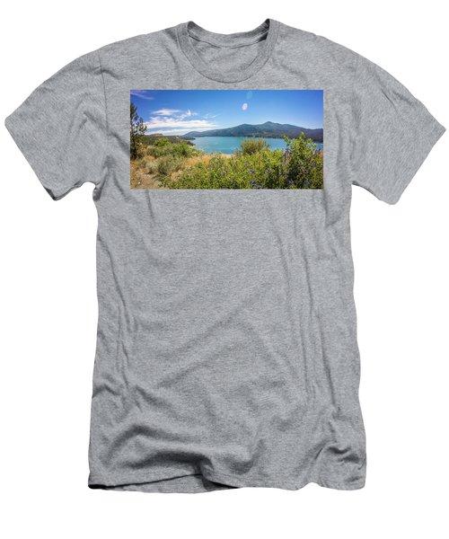 Men's T-Shirt (Athletic Fit) featuring the photograph Nature Scenics Around Spokane River Washington by Alex Grichenko