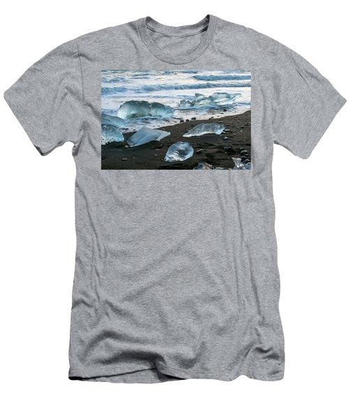 The Diamond Beach, Jokulsarlon, Iceland Men's T-Shirt (Athletic Fit)