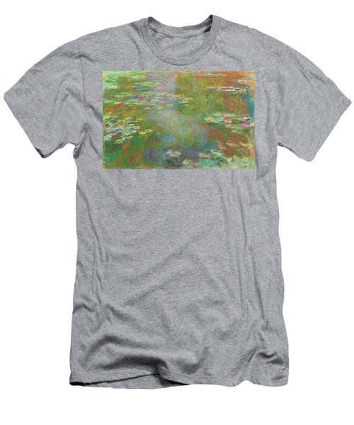 Men's T-Shirt (Athletic Fit) featuring the digital art Water Lily Pond by Claude Monet