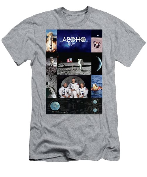 50 Years Apollo 11 Men's T-Shirt (Athletic Fit)