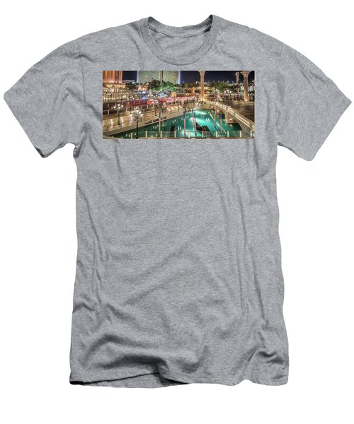 View Of The Venetian Hotel Resort And Casino Men's T-Shirt (Athletic Fit)