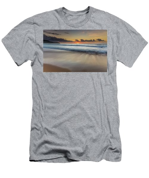 Sunrise Beach Seascape Men's T-Shirt (Athletic Fit)