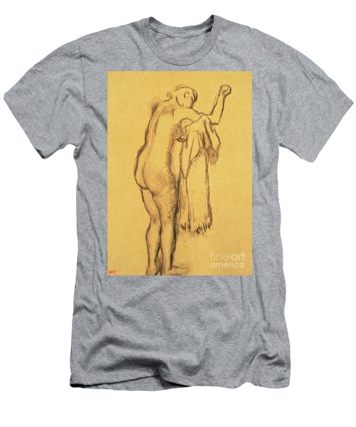 A Bather Drying Herself By E Degas Men's T-Shirt (Athletic Fit)