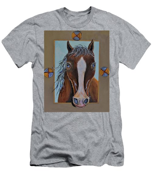 A Blue Eyed Horse Men's T-Shirt (Athletic Fit)
