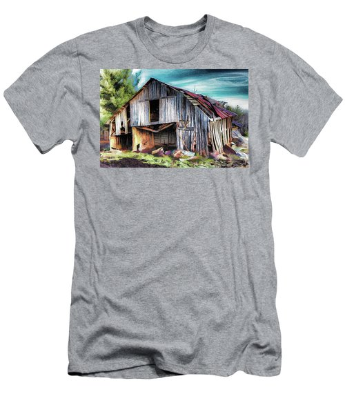 A Classic Vintage Barn In The Blue Ridge Ap Men's T-Shirt (Athletic Fit)