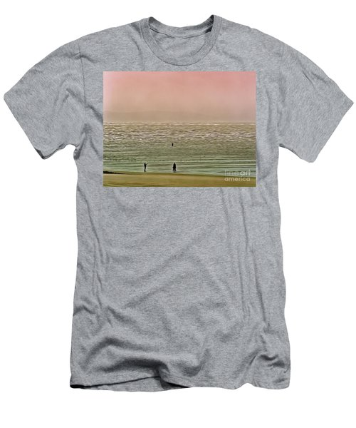 Men's T-Shirt (Athletic Fit) featuring the photograph A Distant Shore by Leigh Kemp