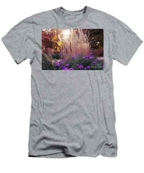 A Flower Bed In The Autumn Park Men's T-Shirt (Athletic Fit)