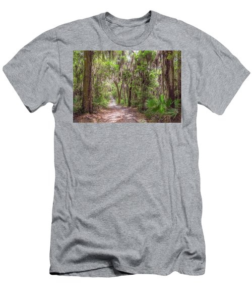 Men's T-Shirt (Athletic Fit) featuring the photograph A Forest Trail by John M Bailey