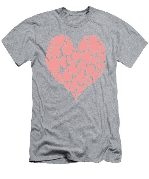 A Heart Full Of Love Pink Valentine Heart Men's T-Shirt (Athletic Fit)