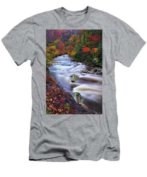 A River Runs Through Autumn Men's T-Shirt (Athletic Fit)