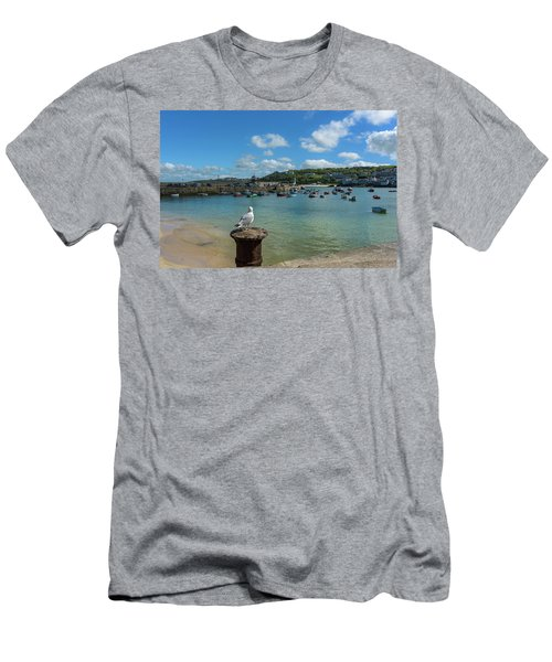 A Seagull Dreaming At The Harbour Men's T-Shirt (Athletic Fit)