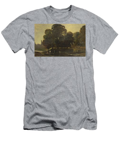 A View Of Eton And The Fellows Eyot Men's T-Shirt (Athletic Fit)