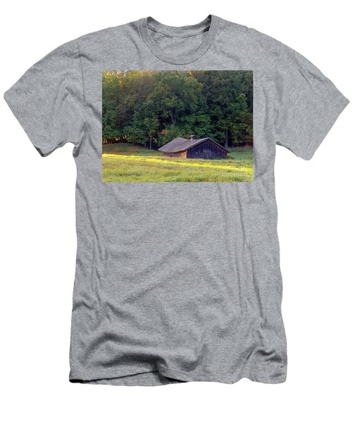Abandoned Hay Barn At Sunrise Men's T-Shirt (Athletic Fit)