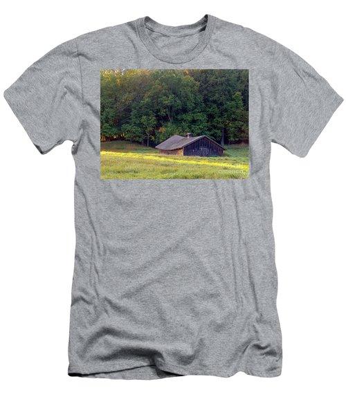 Abandoned Hay Barn At Sunrise Men's T-Shirt (Athletic Fit)