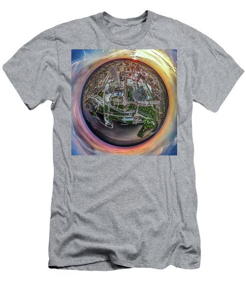 Men's T-Shirt (Athletic Fit) featuring the photograph Above The Calling Little Planet by Randy Scherkenbach