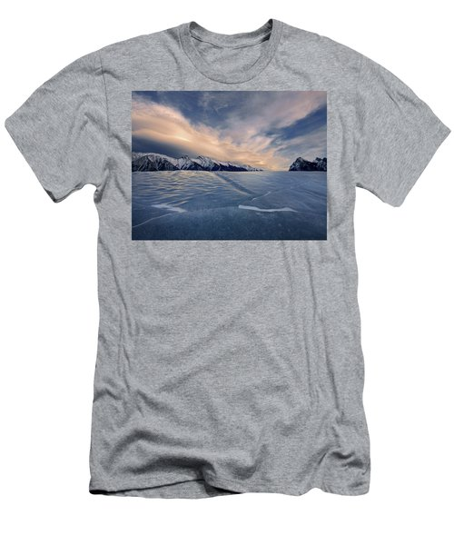 Abraham Lake Ice Wall Men's T-Shirt (Athletic Fit)