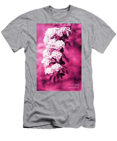 Abstract Spirea Cascade In Red Men's T-Shirt (Athletic Fit)