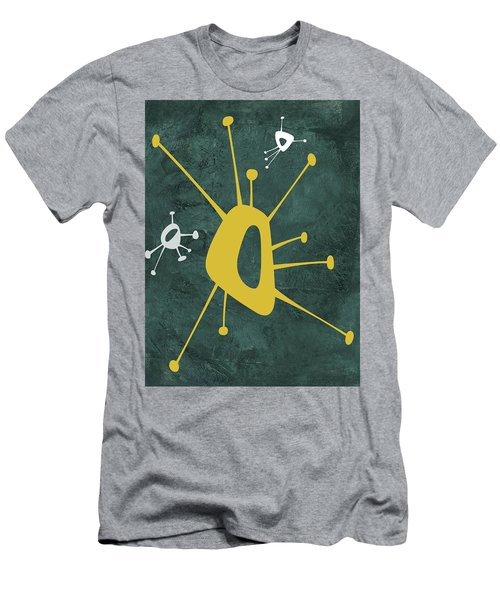 Abstract Splash Theme Xvi Men's T-Shirt (Athletic Fit)