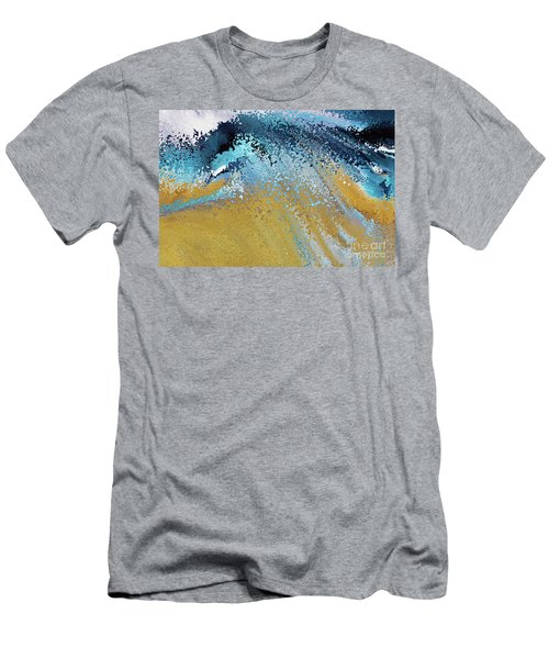 Men's T-Shirt (Athletic Fit) featuring the painting Acts 22 16. Why Are You Waiting by Mark Lawrence