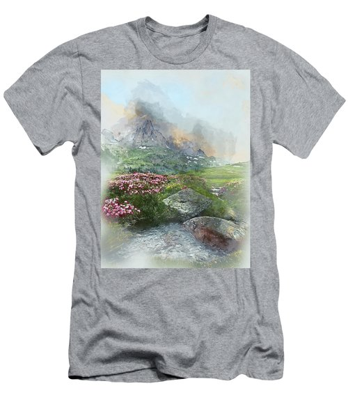 Afternoon Light In The Alps II Men's T-Shirt (Athletic Fit)