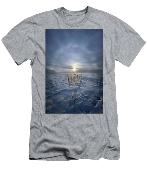 Men's T-Shirt (Athletic Fit) featuring the photograph All Is Blue For A Time by Phil Koch