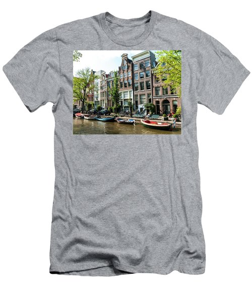 Along An Amsterdam Canal Men's T-Shirt (Athletic Fit)