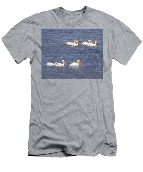 American White Pelican  Men's T-Shirt (Athletic Fit)