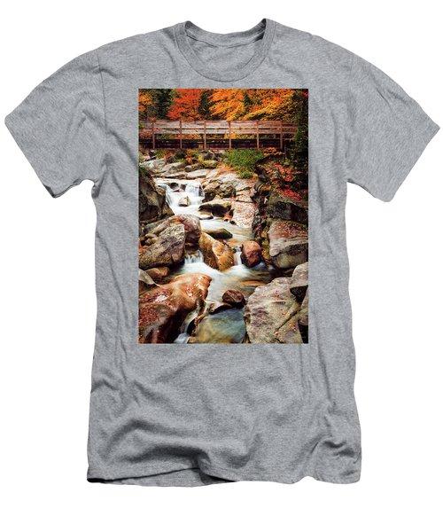 Ammonoosuc River, Autumn Men's T-Shirt (Athletic Fit)
