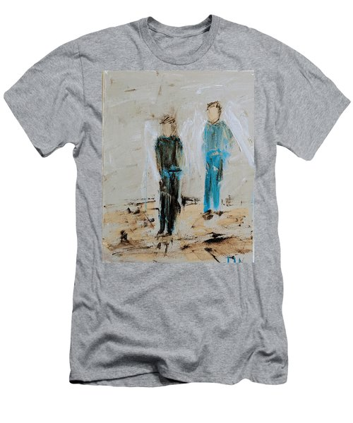 Angel Boys On A Dirt Road Men's T-Shirt (Athletic Fit)