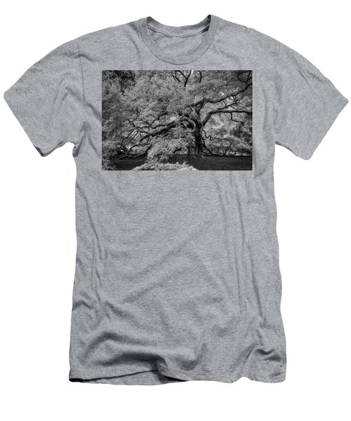Men's T-Shirt (Athletic Fit) featuring the photograph Angel Oak Tree Black And White by Rick Berk