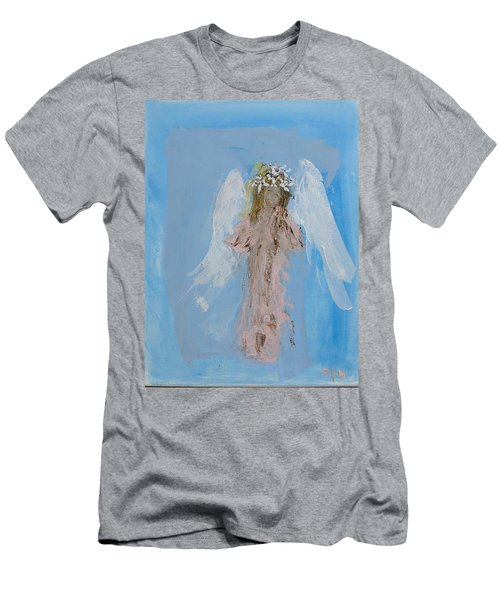 Angel With A Crown Of Daisies Men's T-Shirt (Athletic Fit)