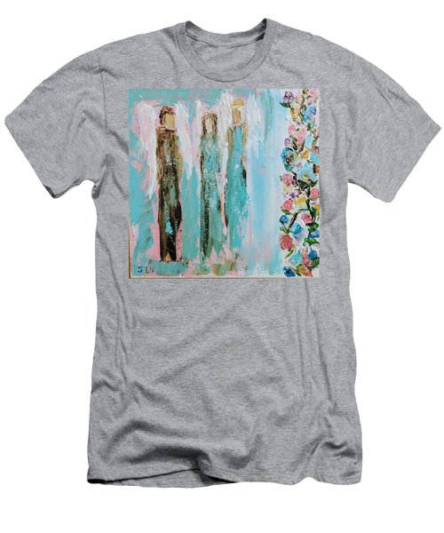 Angels In The Garden Men's T-Shirt (Athletic Fit)