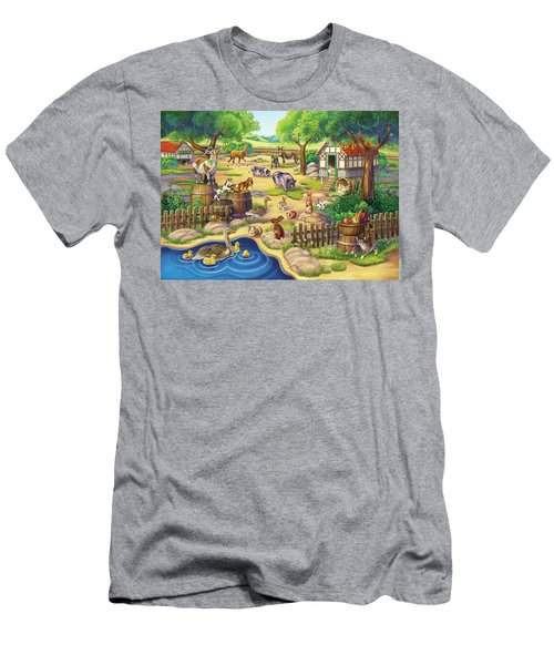 Animals At The Petting Zoo Men's T-Shirt (Athletic Fit)