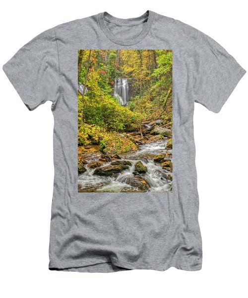 Men's T-Shirt (Athletic Fit) featuring the photograph Anna Ruby Falls Stream by Meta Gatschenberger
