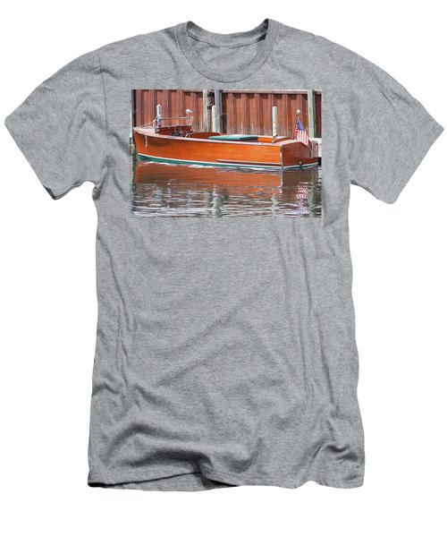 Antique Wooden Boat By Dock 1302 Men's T-Shirt (Athletic Fit)