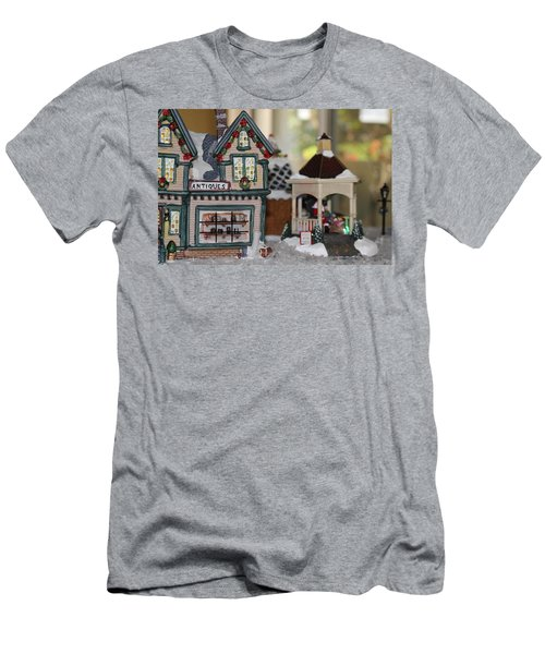 Antiques In Christmas Town Men's T-Shirt (Athletic Fit)
