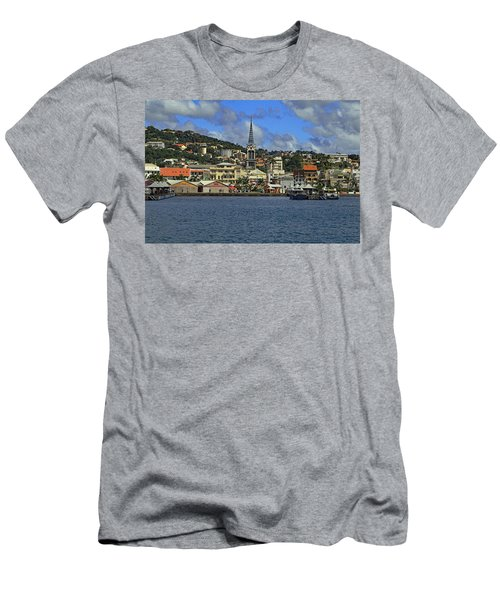Men's T-Shirt (Athletic Fit) featuring the photograph Approaching Fort De France by Tony Murtagh