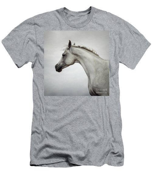 Men's T-Shirt (Athletic Fit) featuring the photograph Arabian Horse Portrait by Dimitar Hristov