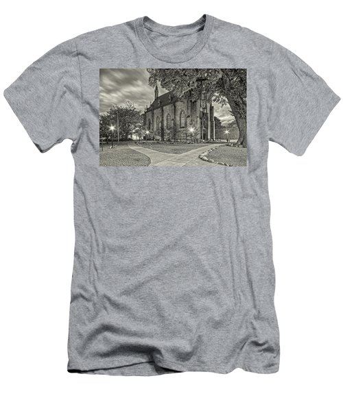 Architectural Photograph Of Loretto Chapel In Downtown Santa Fe - The City Different - New Mexico Men's T-Shirt (Athletic Fit)