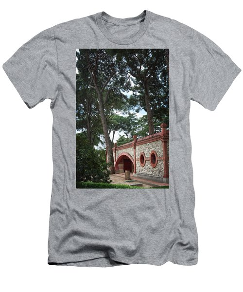 Architecture At The Gardens Of Cecilio Rodriguez In Retiro Park - Madrid, Spain Men's T-Shirt (Athletic Fit)