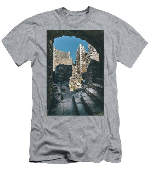 Architecture Of Old Vathia Settlement Men's T-Shirt (Athletic Fit)